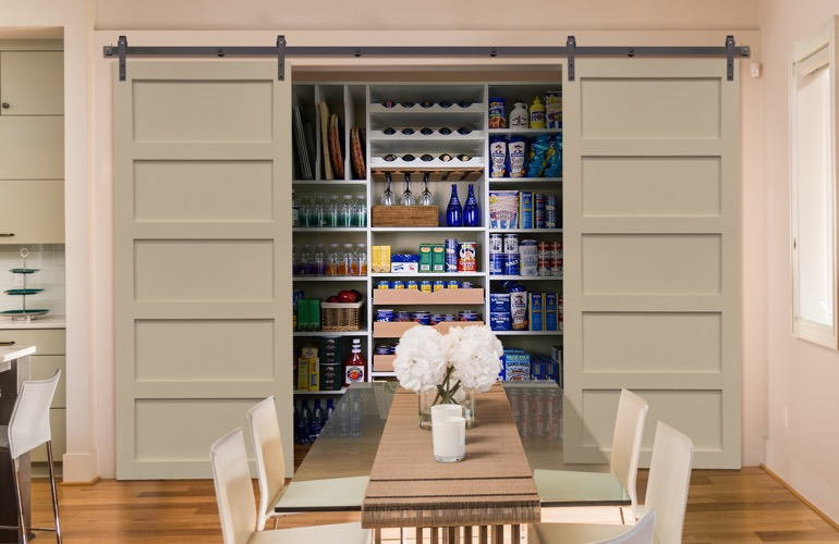 Sliding Barn Doors On A Orlando Pantry