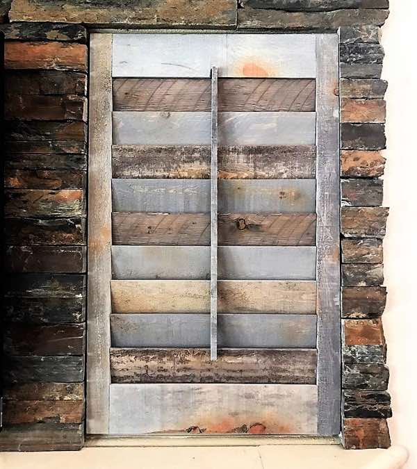 Orlando recycled wood shutter