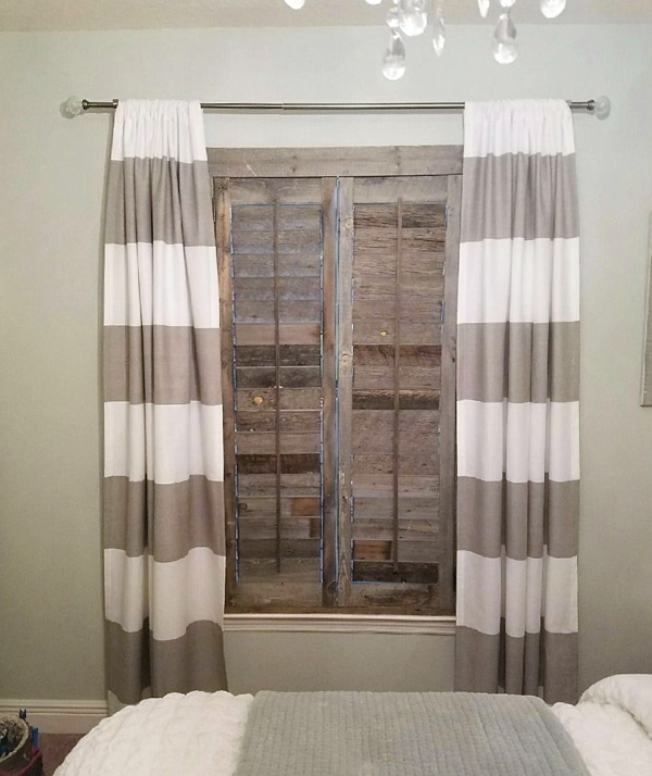 Orlando reclaimed wood shutter bedroom