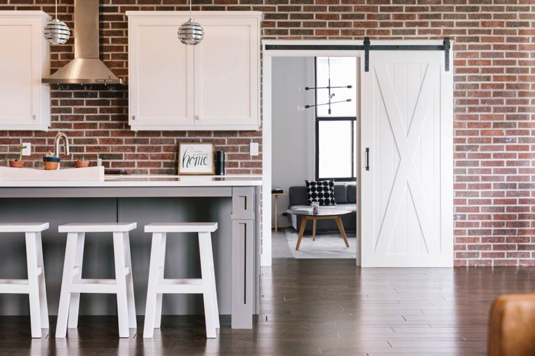 Orlando modern kitchen barn door