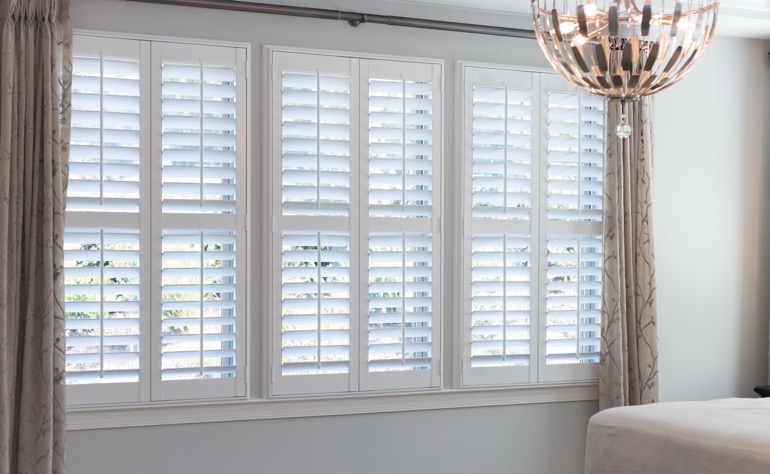 Orlando plantation shutters bedroom