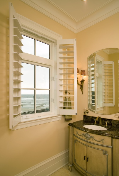Faux Wood shutters in Orlando coastal home