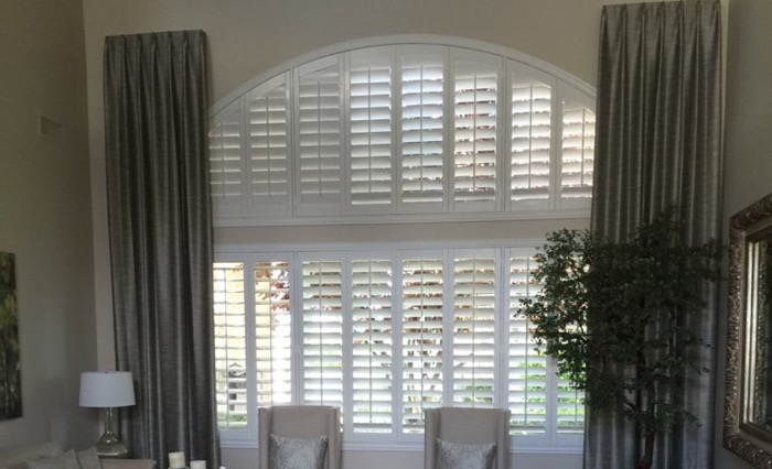 Orlando drapes and shutters.