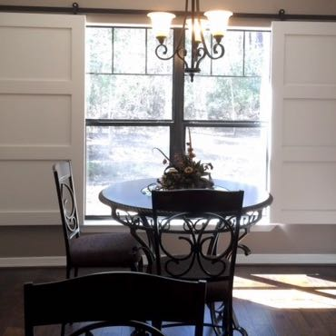 Orlando dining room sliding barn doors.