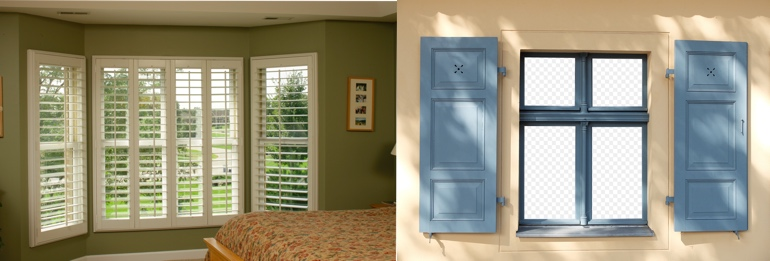Orlando FL exterior and interior shutters
