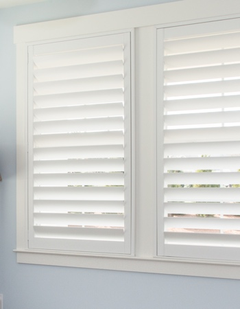 Polywood shutters with hidden tilt rods in Orlando