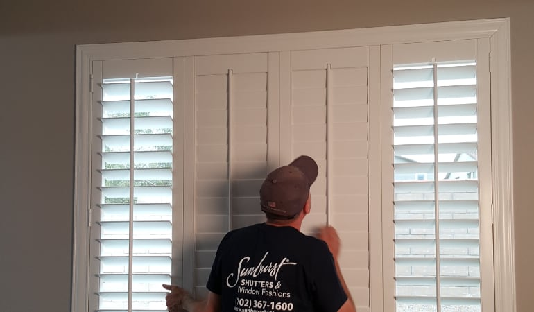 Installation of plantation shutters in Orlando
