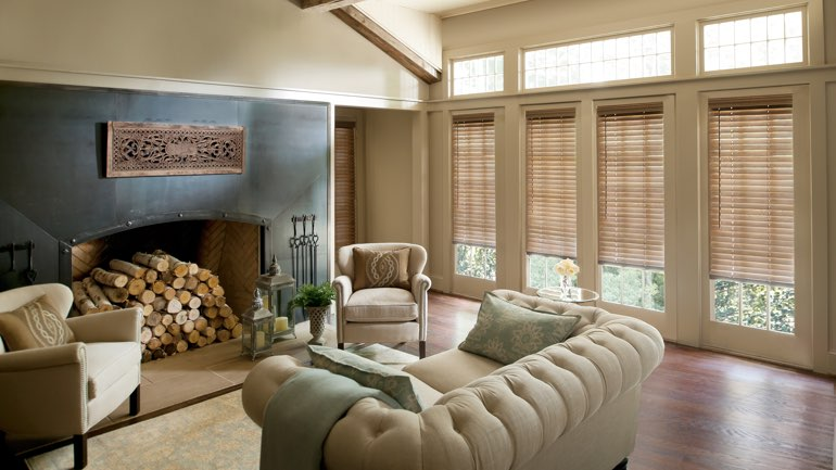 Orlando living room with blinds