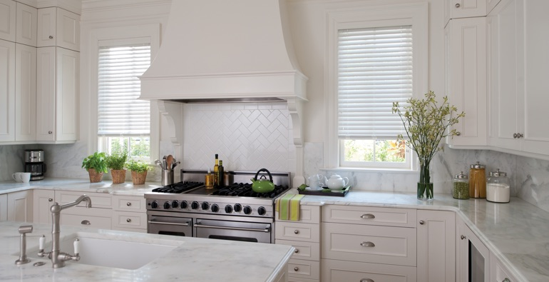 Orlando white faux wood blinds
