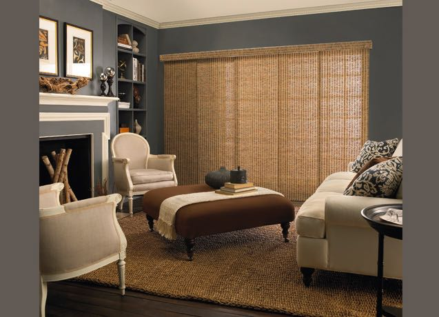Orlando living room panel track blinds