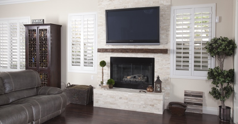 polywood shutters in Orlando family room