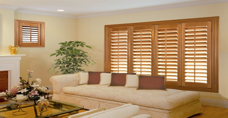 wood shutters Orlando parlor