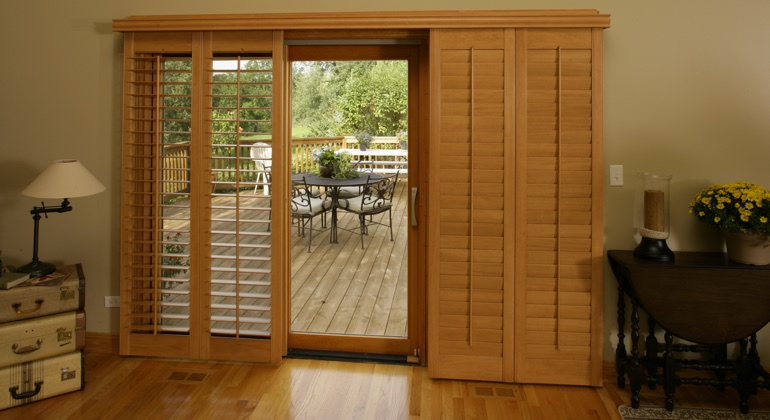 Orlando wood shutter sliding door