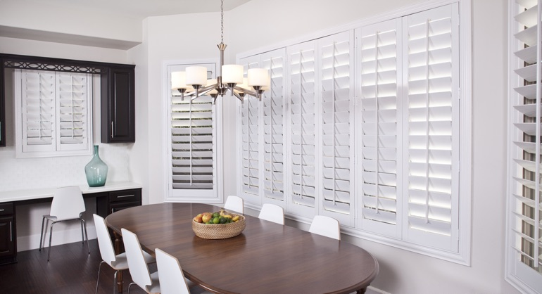 classic shutters in Orlando dining room