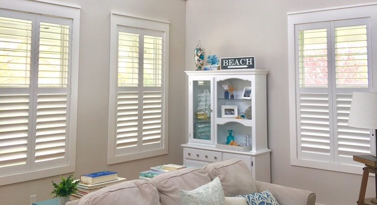 plantation shutters in Orlando great room