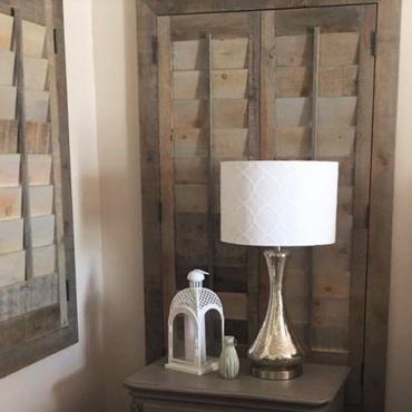 Reclaimed Wood Shutter Orlando Bedroom.