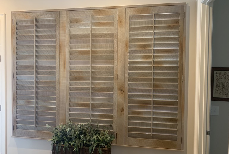 Closed reclaimed wood shutters in Orlando