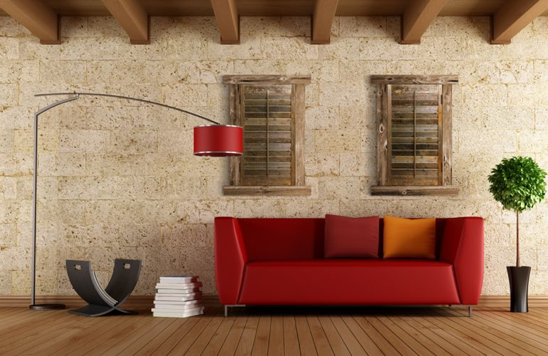 Reclaimed Wood Shutters In A Orlando Living Room. - Reclaimed Wood Shutters For Sale Sunburst Shutters Orlando, FL