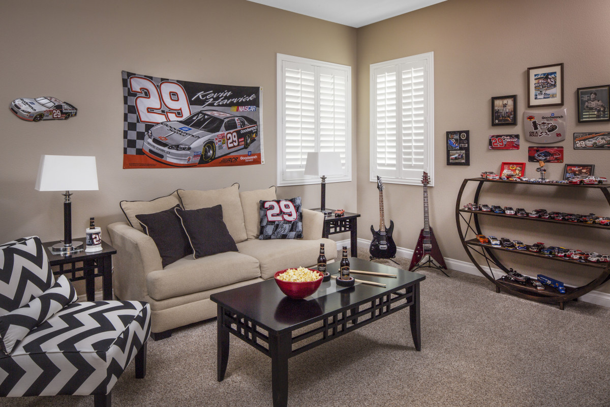 Orlando man cave with shutters