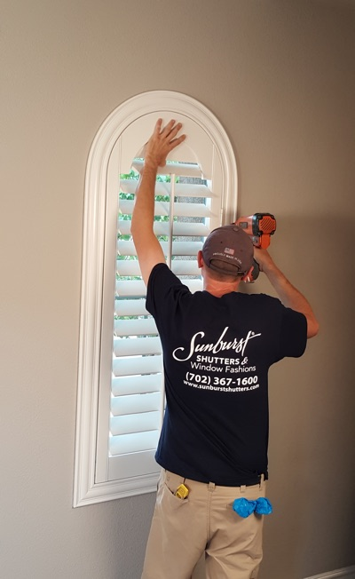 Shutter install in Orlando bedroom