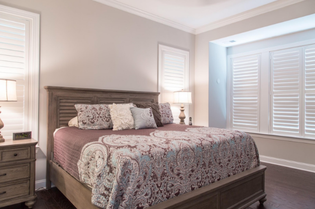 Orlando bedroom with light block shutters