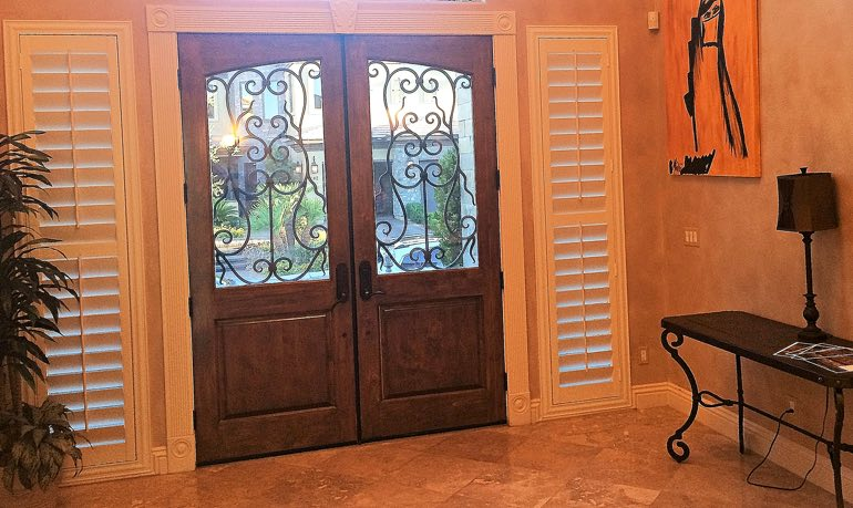 Orlando foyer door with shutters