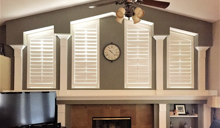 Polywood Shutters in Family Room in Orlando