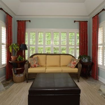 Orlando sunroom plantation shutters.