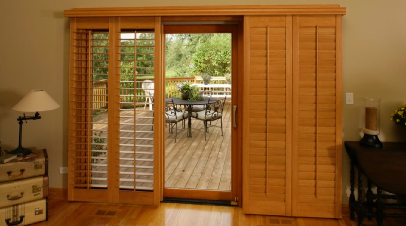Sliding Glass Door Shutter In Orlando