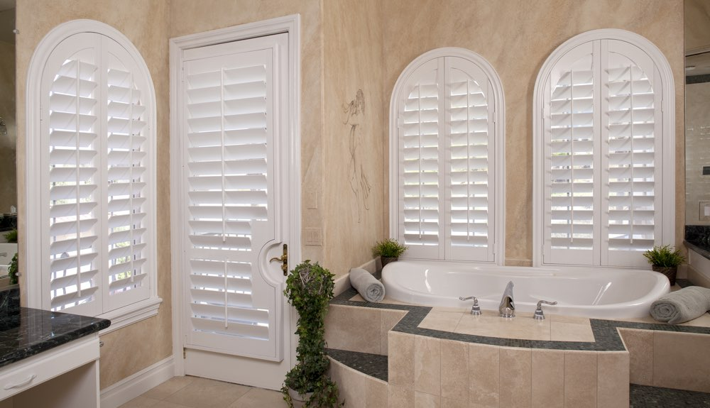 Arched Shutters In A Orlando Bathroom