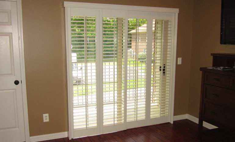 Sliding Glass Door Shutters In Orlando Sunburst Shutters