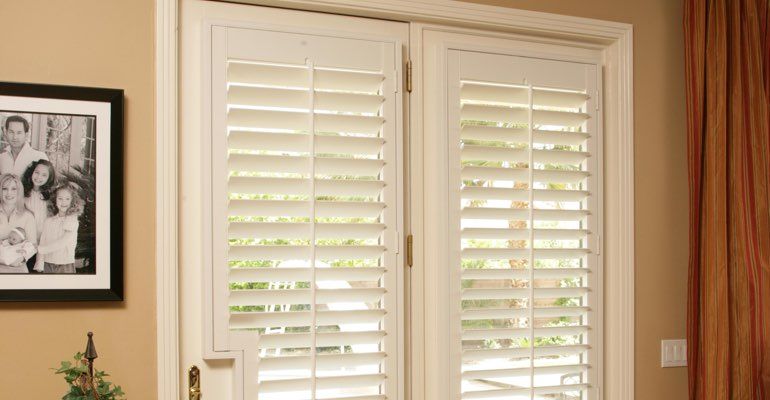 Orlando french door white shutters