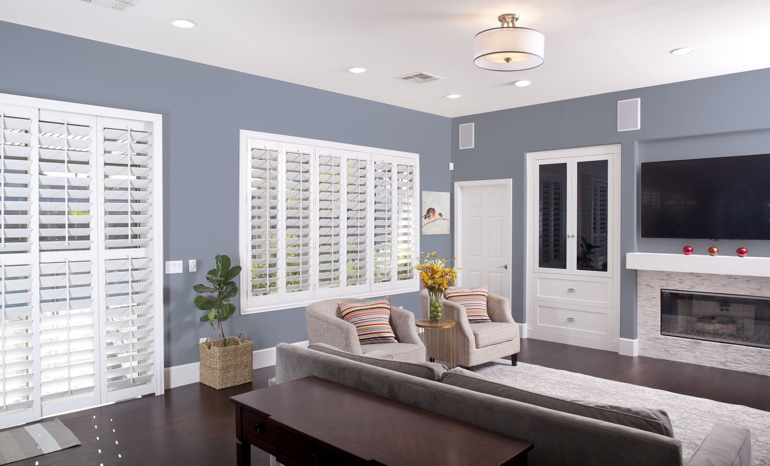 Plantation Shutters In A Orlando Living Room.