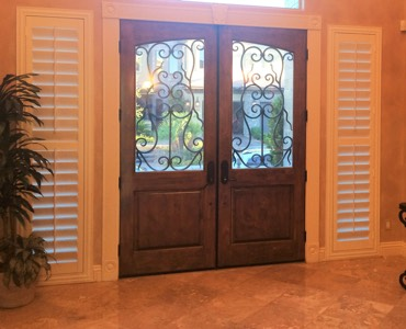 Orlando sidelight window treatment shutter