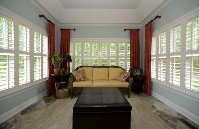 Plantation Shutters In A Orlando Sunroom